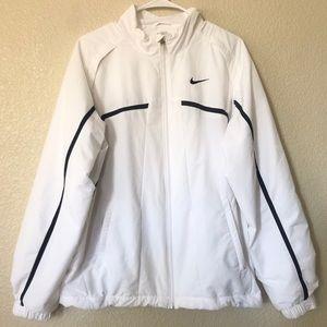 Nike Dri-Fit White with Black Trim Track Jacket